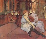 Interior in the Rue des Moulins (mk09) Henri de toulouse-lautrec